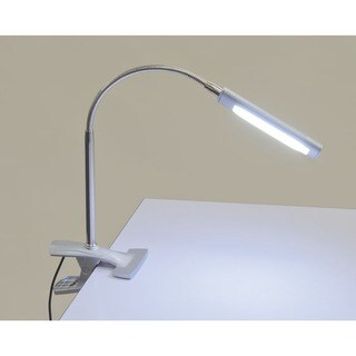 Studio Designs Silvertone Steel and Plastic Art Clamp Lamp