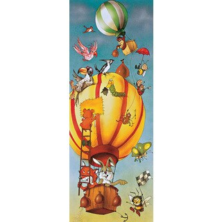 Brewster 'Komar Balloon' Wall Mural - Yellow/Blue