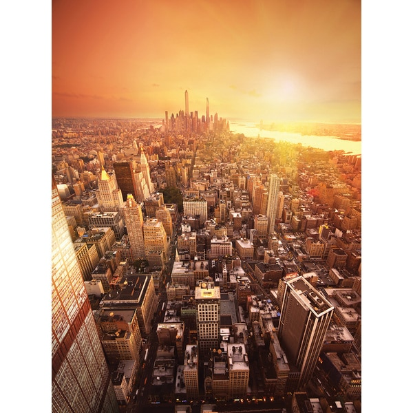 Brewster 39 city sunset 39 wall mural free shipping today for Brewster wall mural