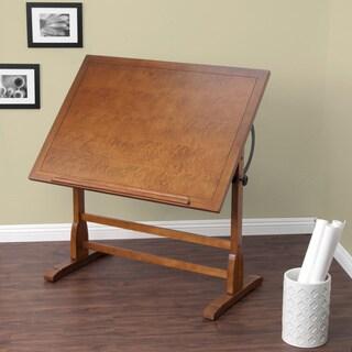 Bon Studio Designs 42 Inch Classic Vintage Oak Wood Drafting Table