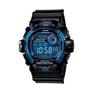 Casio Men's 'G-Shock' Black/ Blue Multi-function Watch (Option: Blue)