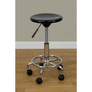 Studio Designs Black/ Chrome Stool
