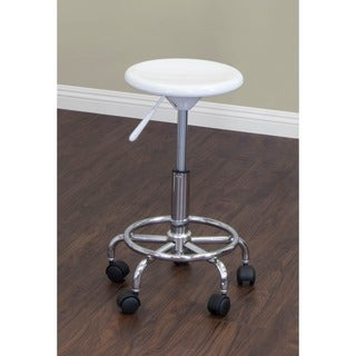 Studio Designs White/ Chrome Stool
