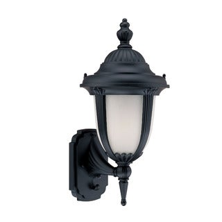 Monterey Energy Star Collection Wall-mount 1-light Outdoor Matte-black Light Fixture with Line Switch
