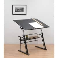 Studio Designs Black Zenith Drafting Table