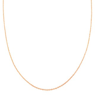 Fremada 10k Rose Gold 1mm Cable Chain (18-inch or 20-inch)