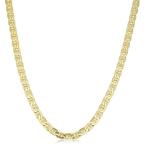 Fremada 10k Yellow Gold 5 millimeters Mariner Link Necklace (20-inch or 24-inch)