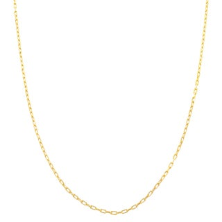 Fremada 14k Yellow Gold 0.9mm Diamond-cut Long Cable Chain (20-inch)