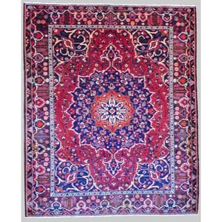 Herat Oriental Persian Hand-knotted Tribal Bakhtiari Red/ Burgundy Wool Rug (10'3 x 12'4)
