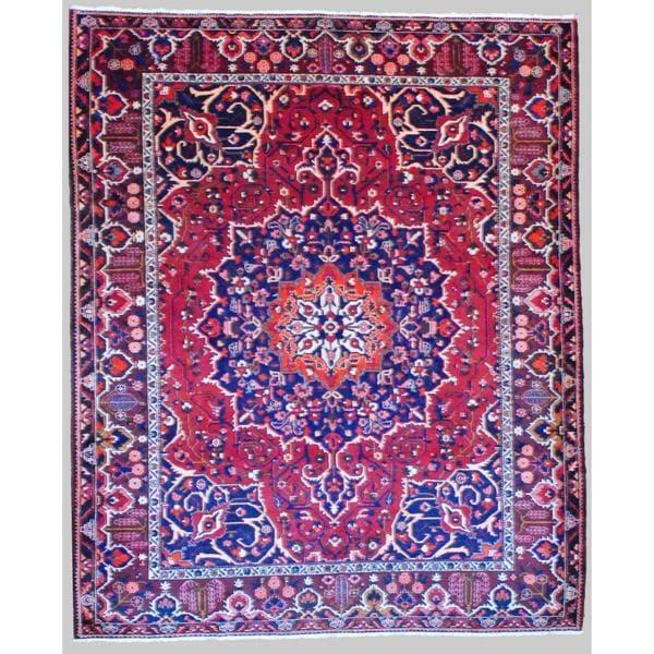 Herat Oriental Persian Hand-knotted Tribal Bakhtiari Wool Rug - 10'3 x 12'4