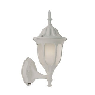 Suffolk Energy Star Collection Wall-mount 1-light Outdoor Textured White Glass Light Fixture