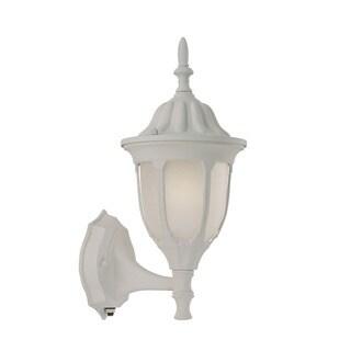Suffolk Energy Star Collection Wall-mount 1-light Outdoor Textured White Glass Light Fixture