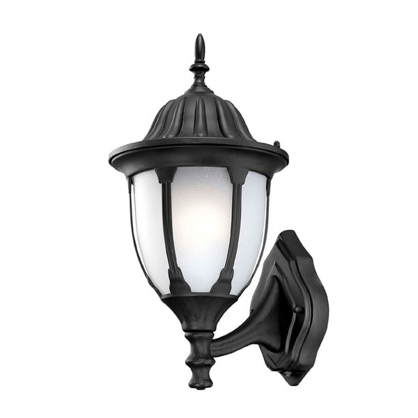 Suffolk Energy Star Collection Wall Mount 1 Light Outdoor Matte Black Light Fixture With Line