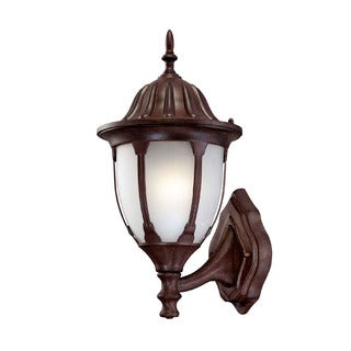 Suffolk Energy Star Collection Wall-mount 1-light Outdoor Burled Walnut Light Fixture