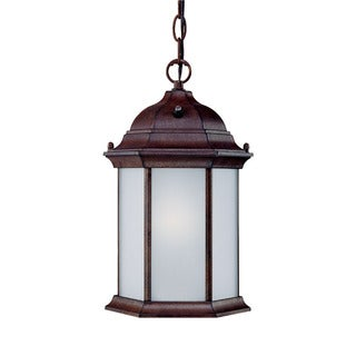 Craftsman Energy Star Collection Hanging Lantern 1-light Outdoor Burled Walnut Aluminum Light Fixture
