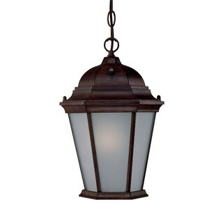 Richmond Energy Star Collection Hanging Lantern 1-light Outdoor Burled Walnut Light Fixture
