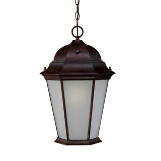 Richmond Energy Star Collection Hanging Lantern 1-light Outdoor Burled-walnut Aluminum Light Fixture