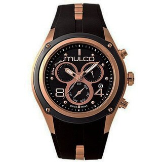 Mulco Men's Bluemarine Collection Black Chronograph Watch