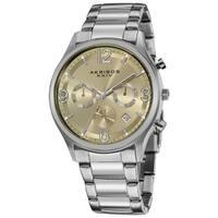 Akribos XXIV Men's Water-resistant Chronograph Gradient-dial Bracelet Watch