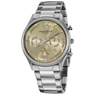 Akribos XXIV Men's Water-resistant Chronograph Gradient-dial Bracelet Watch