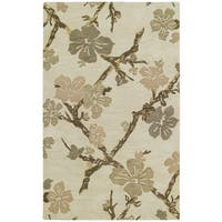 Euphoria Dogwood Sand Tufted Wool Rug - 5' x 7'9