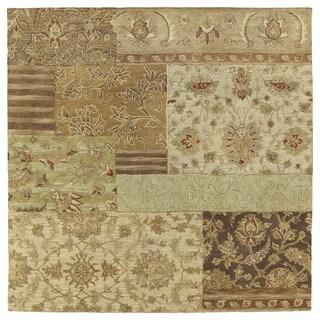 Euphoria Patchwork Multi Tufted Wool Rug (8'0 x 8'0)