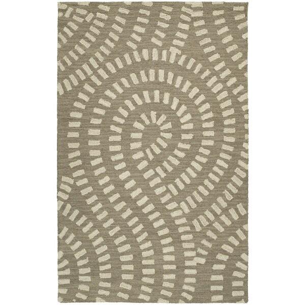 Zoe Light Brown Hand Tufted Wool Rug - 5' x 7'9