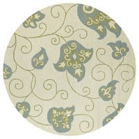 Zoe Whimsy Ivory Hand Tufted Wool Rug