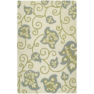 Zoe Whimsy Ivory Hand Tufted Wool Rug (8'0 x 10'0)