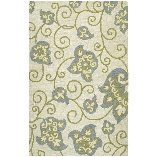 Zoe Whimsy Ivory Hand Tufted Wool Rug - 8'0 x 10'0