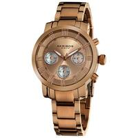 Akribos XXIV Women's Rosetone Quartz Chronograph Stainless Steel Bracelet Watch