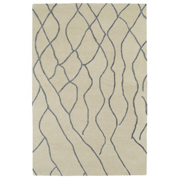 Hand-tufted Utopia Peaks Ivory Wool Rug - 5' x 8'