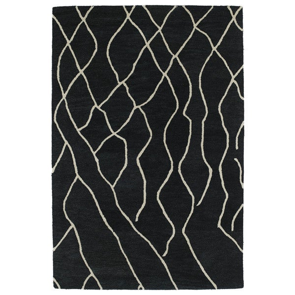 Hand-tufted Utopia Peaks Charcoal Wool Rug (2' x 3') - 2' x 3'