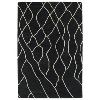Hand-tufted Utopia Peaks Charcoal Wool Rug (5' x 8')