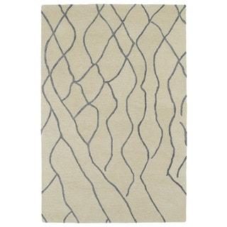 Hand-tufted Utopia Peaks Ivory Wool Rug - 2' x 3'