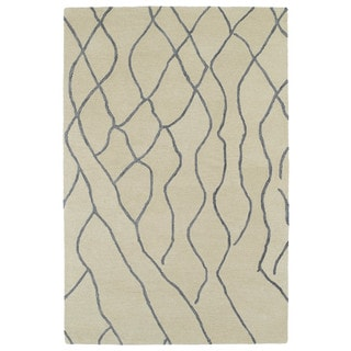 Hand-tufted Utopia Peaks Ivory Wool Rug (8' x 11')