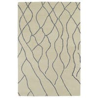 Hand-tufted Utopia Peaks Ivory Wool Rug (9'6 x 13'6)
