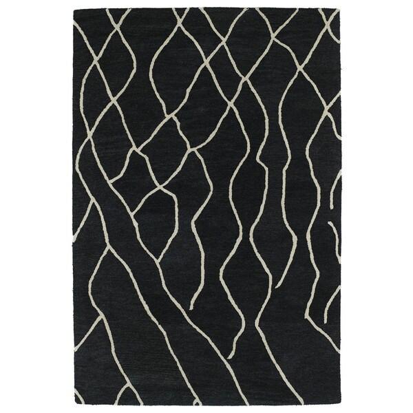 Hand-tufted Utopia Peaks Charcoal Wool Rug - 8' x 11'