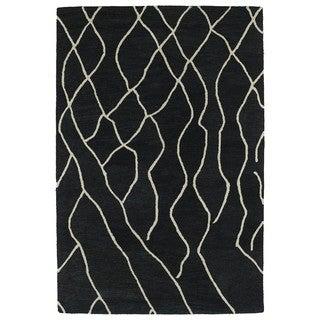Hand-tufted Utopia Peaks Charcoal Wool Rug (8' x 11')