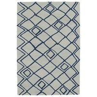Hand-tufted Utopia Lucca Ivory Wool Rug - 5' x 8'