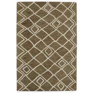 Shop Hand Tufted Twister Wool Rug 5 X 8 Free