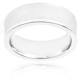 Men's Crucible Stainless Steel Sandblasted Comfort-fit Ring