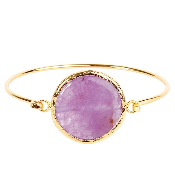 ELYA Radiant Orchid Goldplated Bangle Bracelet