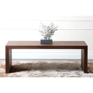Abbyson Allison Walnut Medium Coffee Table