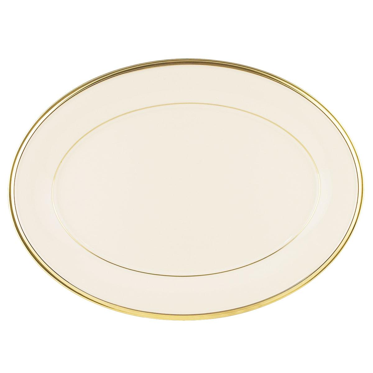 Lenox Eternal' 13-inch Oval Platter, Ivory (Plastic, Banded)
