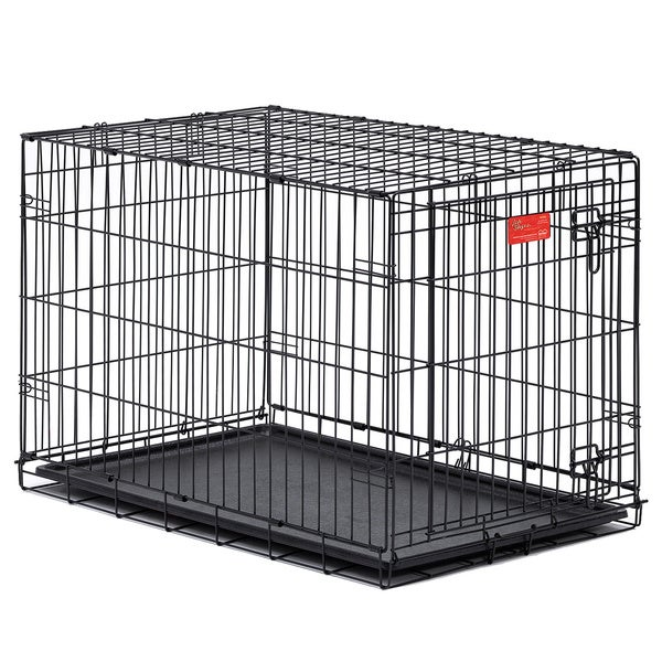 Midwest Life Stages Single-door Folding Dog Crate  sc 1 st  Overstock.com & Shop Midwest Life Stages Single-door Folding Dog Crate - Free ...