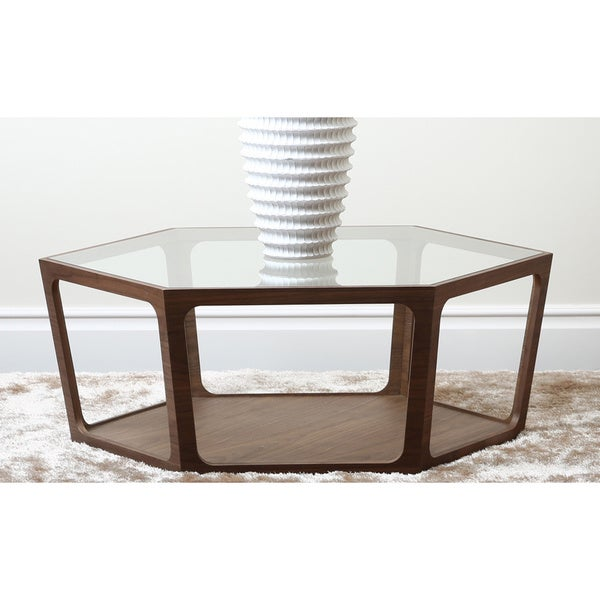 Abbyson Verona Walnut Coffee Table
