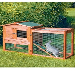 TRIXIE Pet Products Outdoor Run Pine Rabbit Hutch