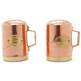 Old Dutch Decor Copper-plated Stainless Steel 4.25-inch Stovetop Salt and Pepper Set