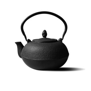 Old Dutch Hakone Black Cast Iron 3-liter Teapot/ Wood Stove Humidifier
